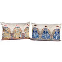 Gold Emperor & Blue Empress Pillows