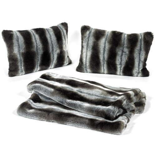 Faux Fur Bed Runner and Pillow Set