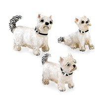 Sterling Silver Westie Family Figurines