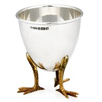 Sterling Silver Chicken Foot Eggcup