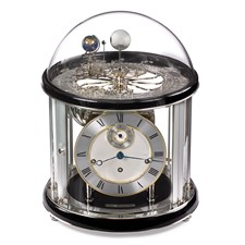Tellurium II Nickel Plated Clock, Black Finish