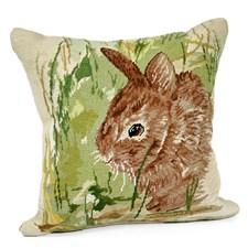 Thumper Rabbit Needlepoint Pillow