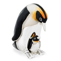 Sterling Silver Penguins Figurine