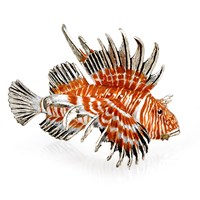 Small Sterling Silver Lion Fish