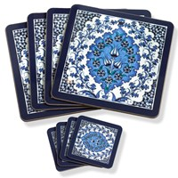 Blue Tile Table Mats u0026 Coasters  sc 1 st  Scully u0026 Scully & Placemats u0026 Coasters | Wooden Mats | Placemats u0026 Coasters at Scully ...