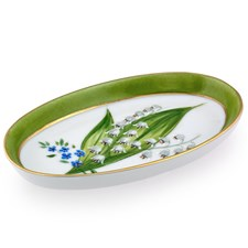 Lily of the Valley Empty Pockets Oval Tray