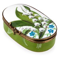 Lily of the Valley Oval Powder Box