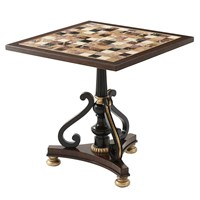 Mahogany Checkerboard Accent Table