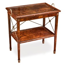Mahogany Two-Tier Butler's Tray Table