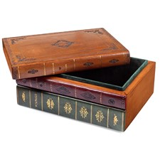 Leather Book Box with Removable Top
