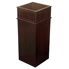 Mahogany Grid Umbrella Stand with metal Insert