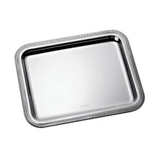 Christofle Malmaison Silverplated Rectangular Trays