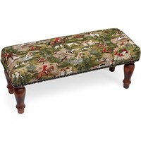 Horses & Hounds Tapestry Stool
