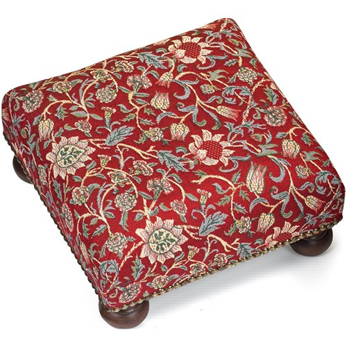 Evenlode Tapestry Footstool, Red