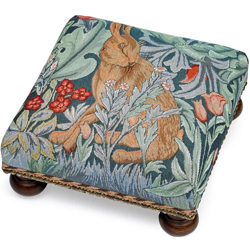 Hare Tapestry Footstool