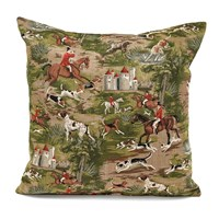 Horses & Hounds Tapestry Pillow