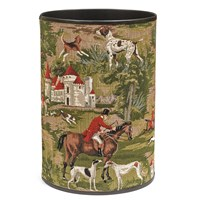 Horses & Hounds Tapestry Waste Bin