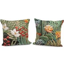 Tropical Forest Tapestry Pillows