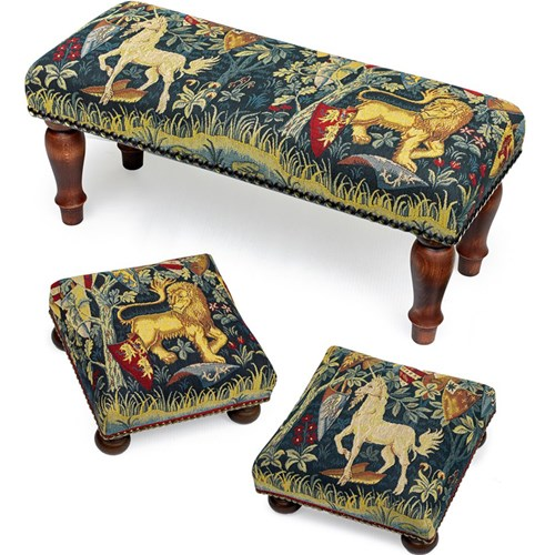 Knights of the Round Table Tapestry Stools