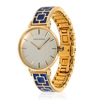 Halcyon Days Enamel Bangle Watch