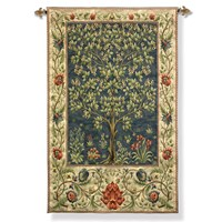 Tree of Life Blue Tapestry Hangings