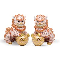 Herend Reserve Guardian Foo Dog Figurines