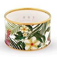 Halcyon Days Tropical Flowers Cuff Bangles