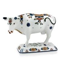 Royal Delft Ceramic Polychrome Cow, Large