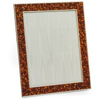 Tortoise Enamel and Sterling SIilver Picture Frames