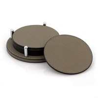 David Round Coasters, Mud - Set of 6