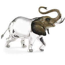 Sterling Silver Elephant Sculpture, Large