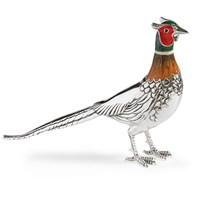 Sterling Silver Pheasant Sculpture