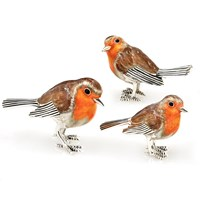 Sterling Silver Robin Family, Set of 3