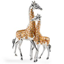 Sterling Silver Giraffe Couple