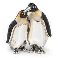 Sterling Silver Penguin Couple