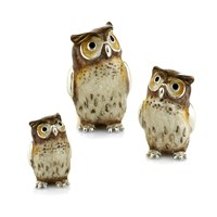 Sterling Silver Owl Family, Set of 3