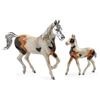 Sterling Silver Horse Couple, Pair