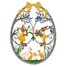 Pewter Easter Egg Hanging, Large