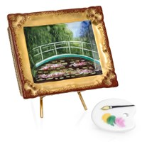 Monet's Japanese Footbridge in Frame Limoges Box