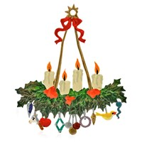 Pewter Holly Advent Wreath Ornament
