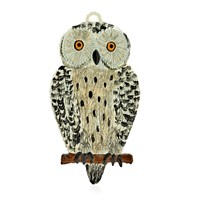 Pewter Snowy Owl Ornament