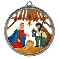 Pewter Nativity Ornament