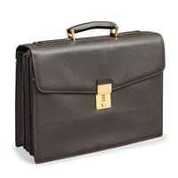 Leather Five Folder Briefcase