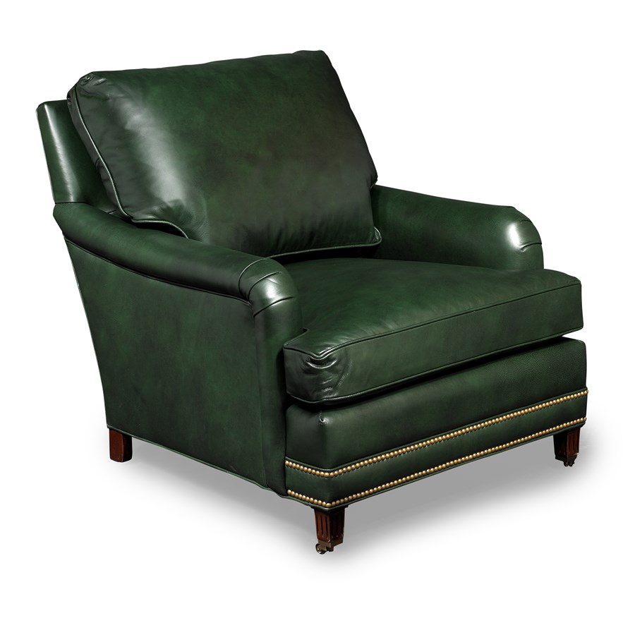 Leather reading chairs - Bishop Reading Chair