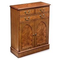 Burr Walnut Gothic Cupboard