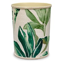 Tropic Palm Wastebasket, Green