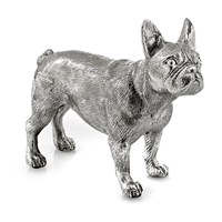 Sterling Silver French Bulldog Sculpture