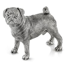 Sterling Silver Pug