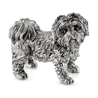 Sterling Silver Shihtzu Sculpture