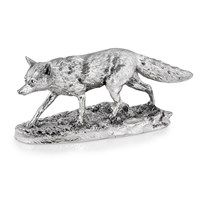 Sterling Silver Stalking Fox, Medium